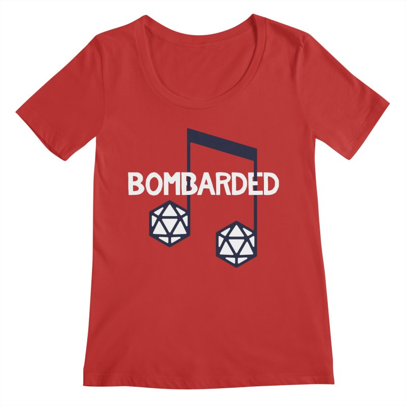 bomBARDed Logo w/Text Women's Regular Scoop Neck by bomBARDed Merch!
