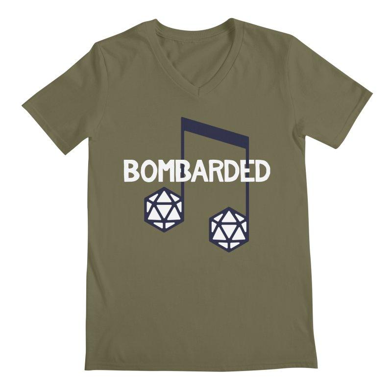 bomBARDed Logo w/Text Men's Regular V-Neck by bomBARDed Merch!
