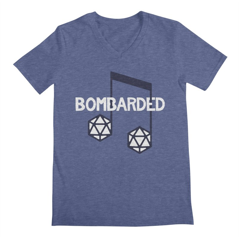 bomBARDed Logo w/Text Men's Regular V-Neck by bomBARDed Merch!