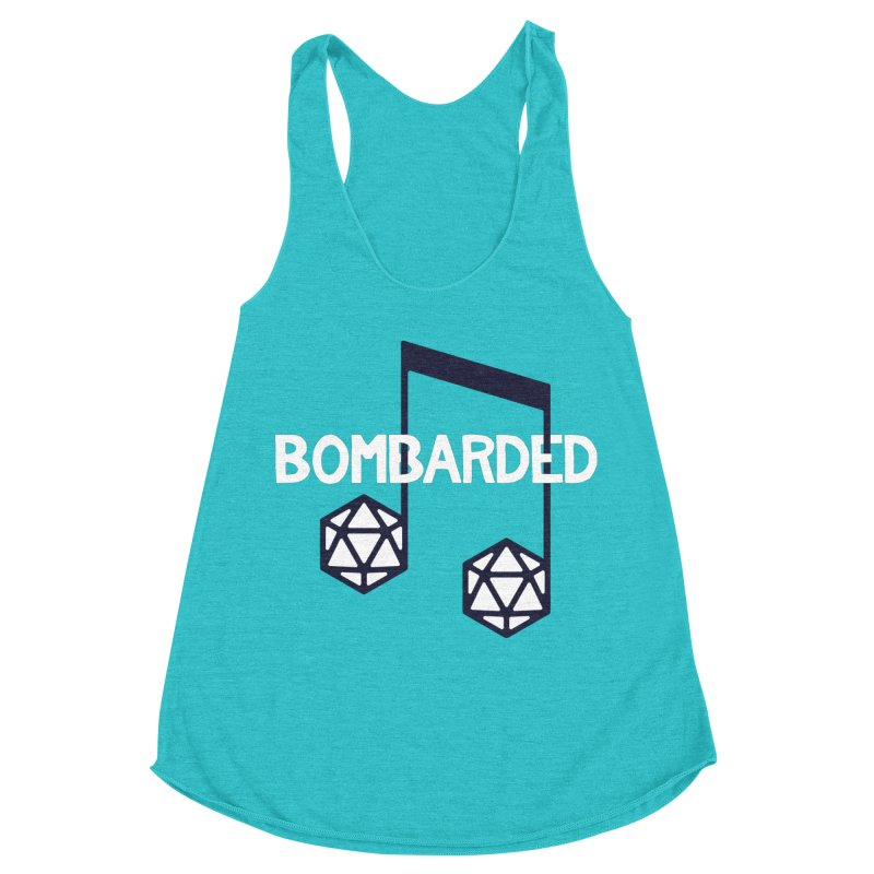 bomBARDed Logo w/Text Women's Racerback Triblend Tank by bomBARDed Merch!