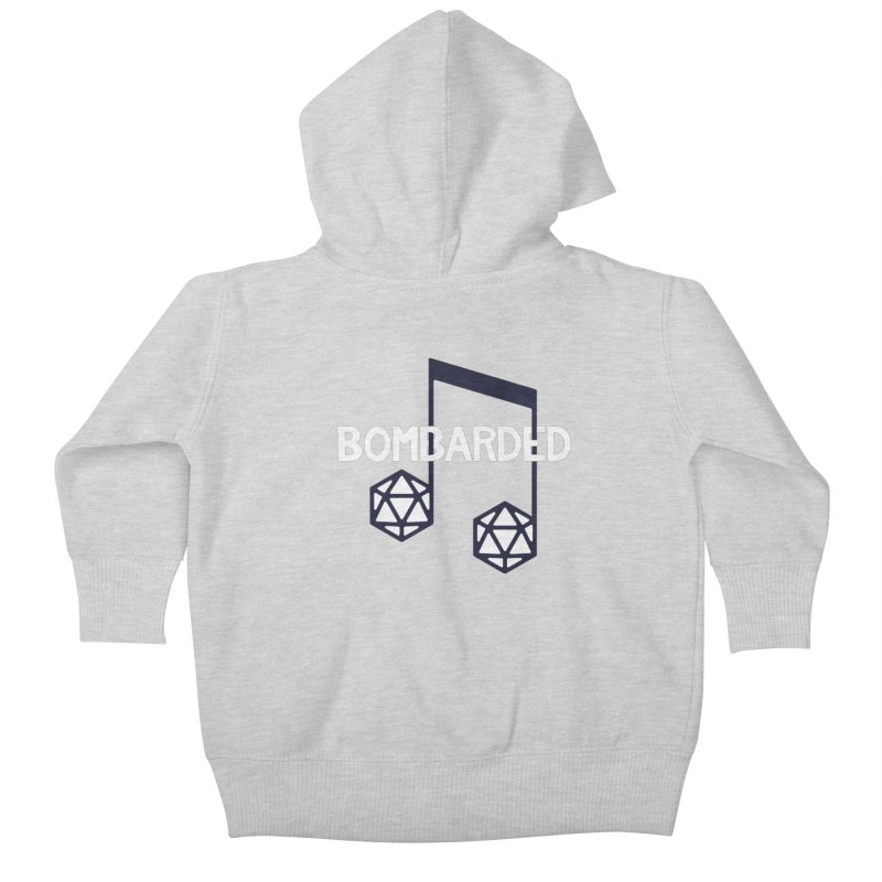 bomBARDed Logo w/Text Kids Baby Zip-Up Hoody by bomBARDed Merch!