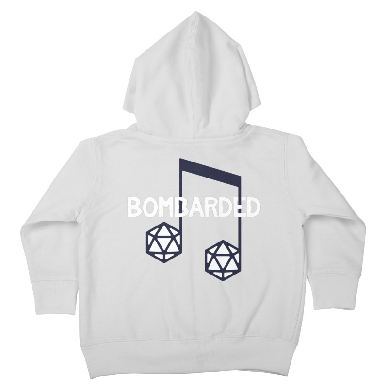 bomBARDed Logo w/Text Kids Toddler Zip-Up Hoody by bomBARDed Merch!