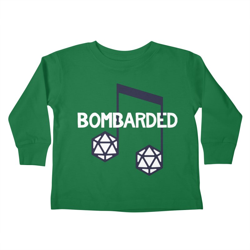 bomBARDed Logo w/Text Kids Toddler Longsleeve T-Shirt by bomBARDed Merch!