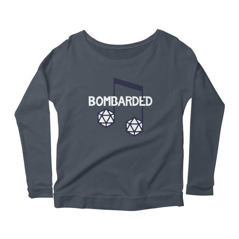 bomBARDed Logo w/Text Women's Scoop Neck Longsleeve T-Shirt by bomBARDed Merch!