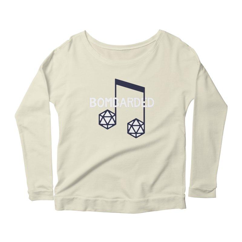 bomBARDed Logo w/Text Women's Scoop Neck Longsleeve T-Shirt by bomBARDed Merch!