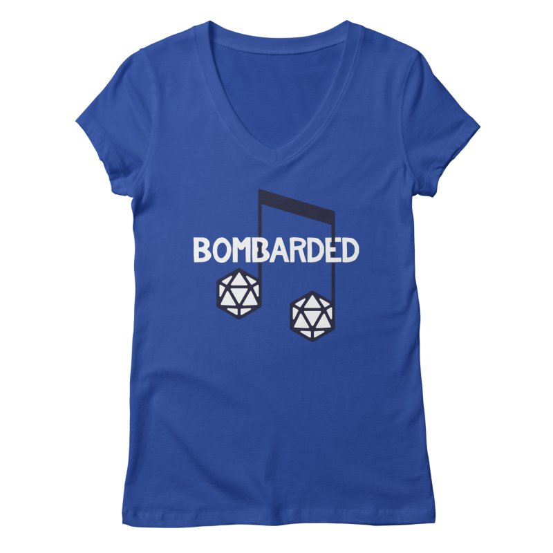bomBARDed Logo w/Text Women's Regular V-Neck by bomBARDed Merch!