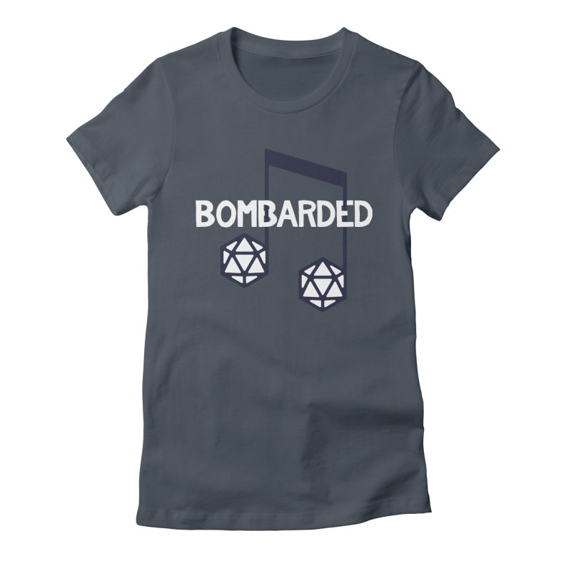 bomBARDed Logo w/Text Women's Fitted T-Shirt by bomBARDed Merch!