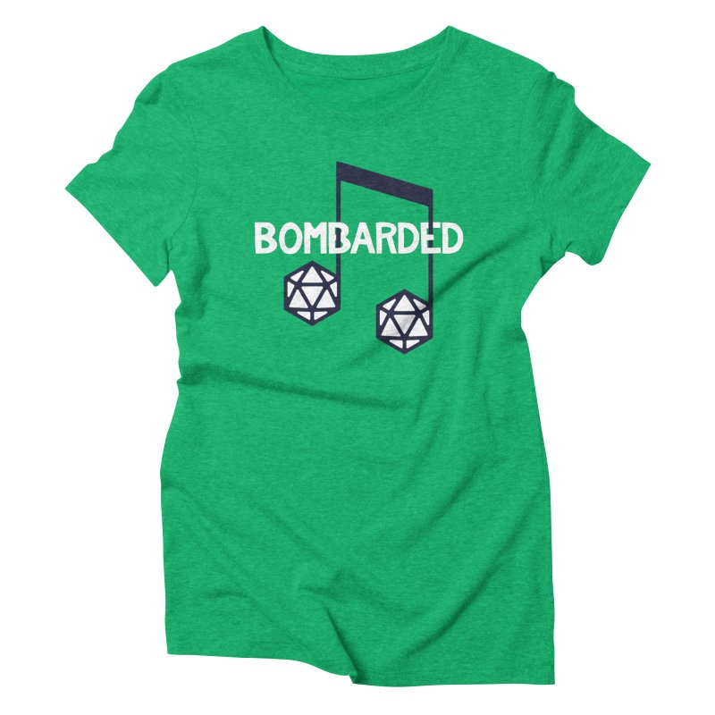 bomBARDed Logo w/Text Women's Triblend T-Shirt by bomBARDed Merch!