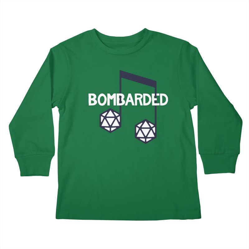 bomBARDed Logo w/Text Kids Longsleeve T-Shirt by bomBARDed Merch!