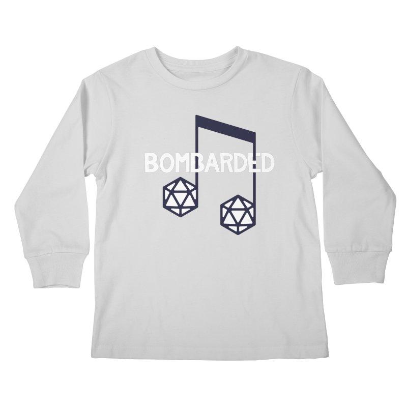 bomBARDed Logo w/Text Kids Longsleeve T-Shirt by bomBARDed Merch!
