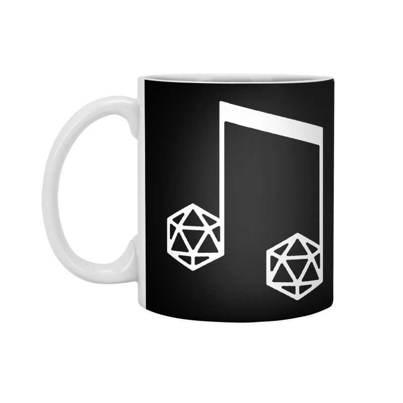 bomBARDed Logo White (no text) Accessories Standard Mug by bomBARDed Merch!