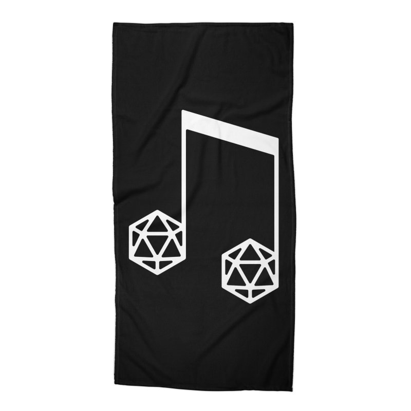 bomBARDed Logo White (no text) Accessories Beach Towel by bomBARDed Merch!