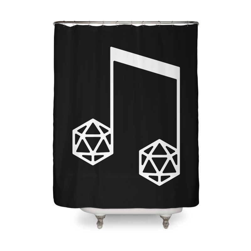 bomBARDed Logo White (no text) Home Shower Curtain by bomBARDed Merch!