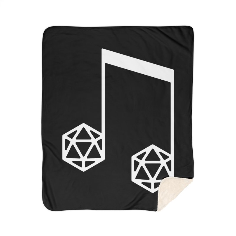 bomBARDed Logo White (no text) Home Sherpa Blanket Blanket by bomBARDed Merch!