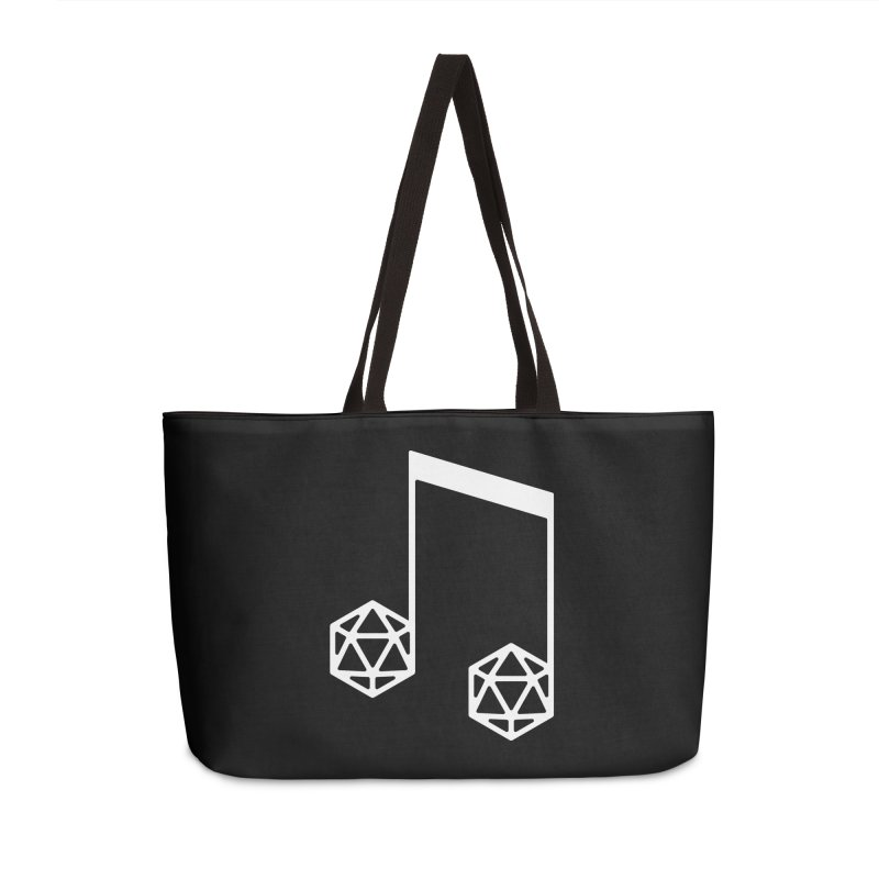 bomBARDed Logo White (no text) Accessories Weekender Bag Bag by bomBARDed Merch!