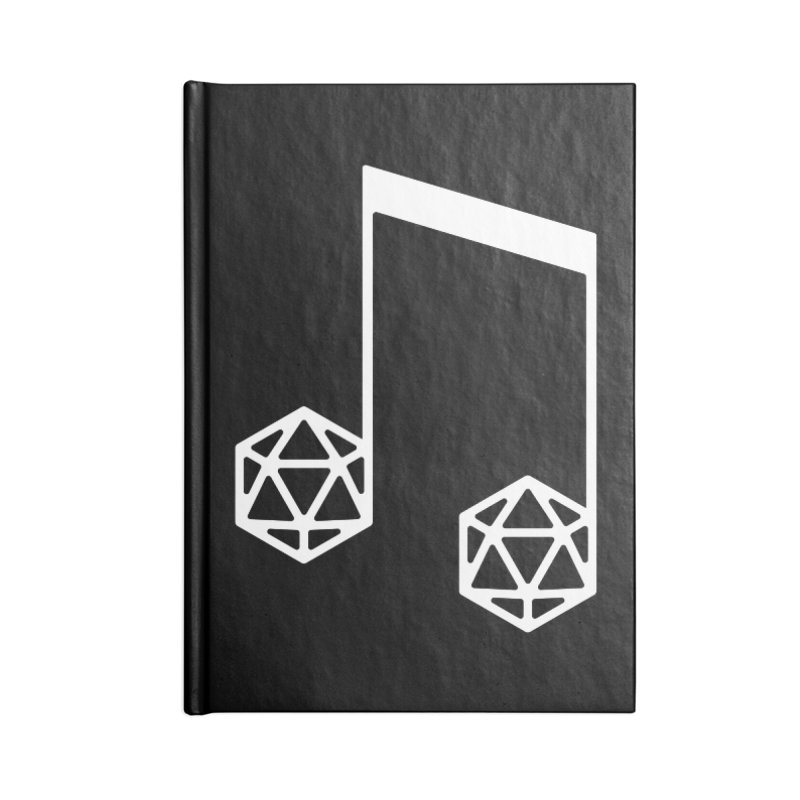 bomBARDed Logo White (no text) Accessories Blank Journal Notebook by bomBARDed Merch!