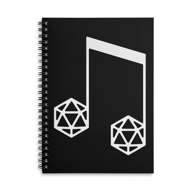bomBARDed Logo White (no text) Accessories Lined Spiral Notebook by bomBARDed Merch!