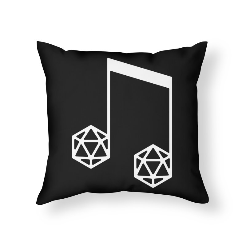 bomBARDed Logo White (no text) Home Throw Pillow by bomBARDed Merch!