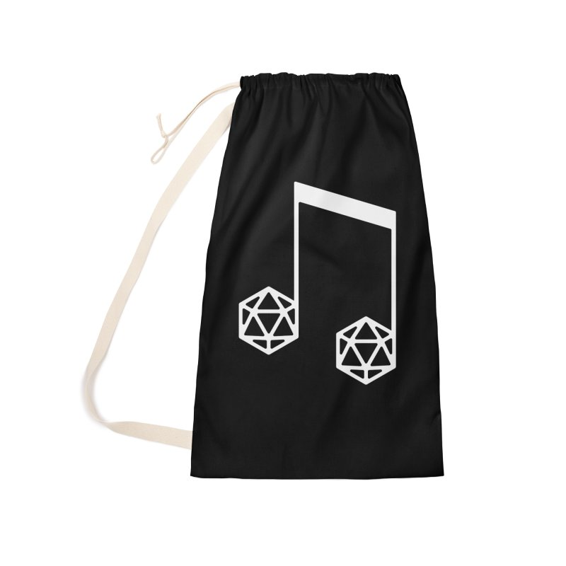 bomBARDed Logo White (no text) Accessories Laundry Bag Bag by bomBARDed Merch!