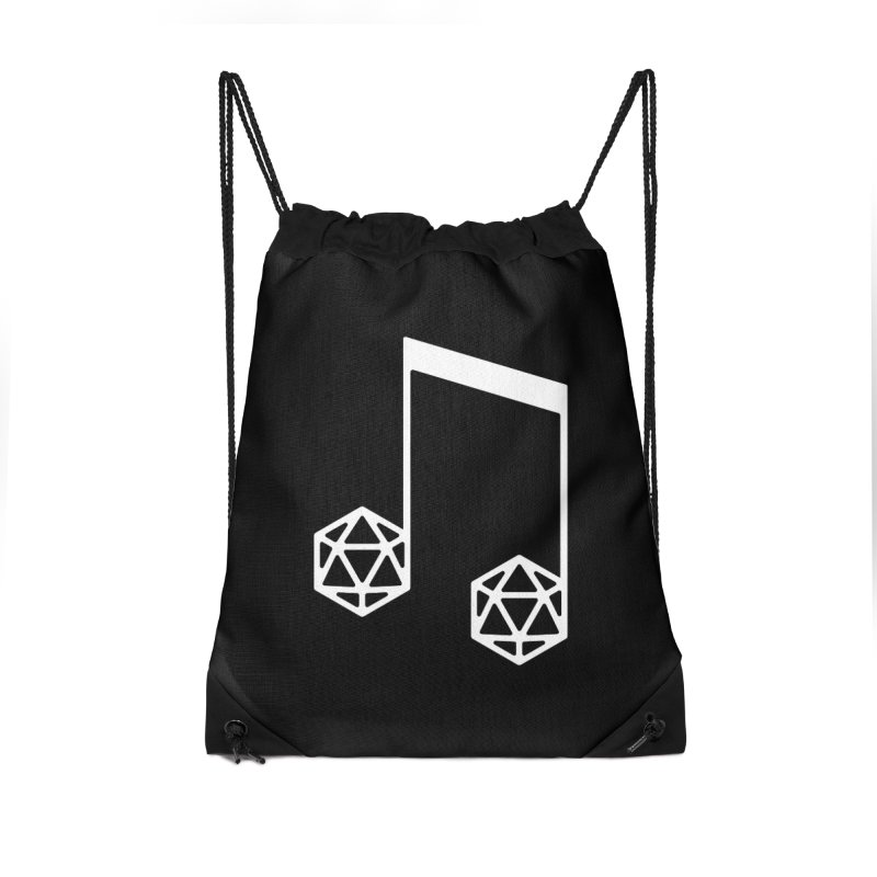 bomBARDed Logo White (no text) Accessories Drawstring Bag Bag by bomBARDed Merch!