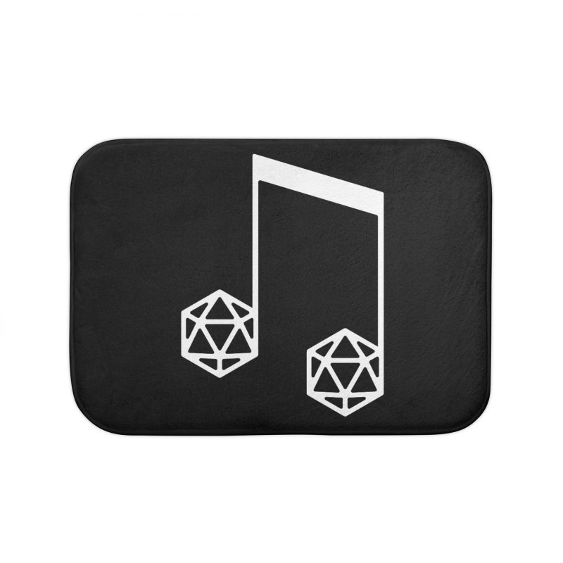 bomBARDed Logo White (no text) Home Bath Mat by bomBARDed Merch!