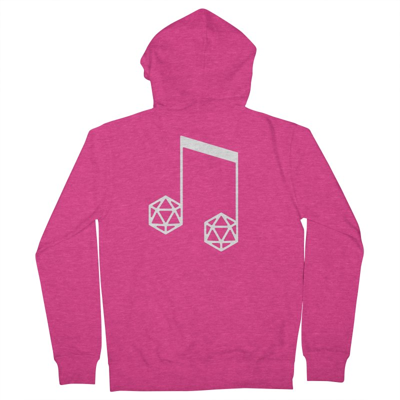 bomBARDed Logo White (no text) Women's French Terry Zip-Up Hoody by bomBARDed Merch!