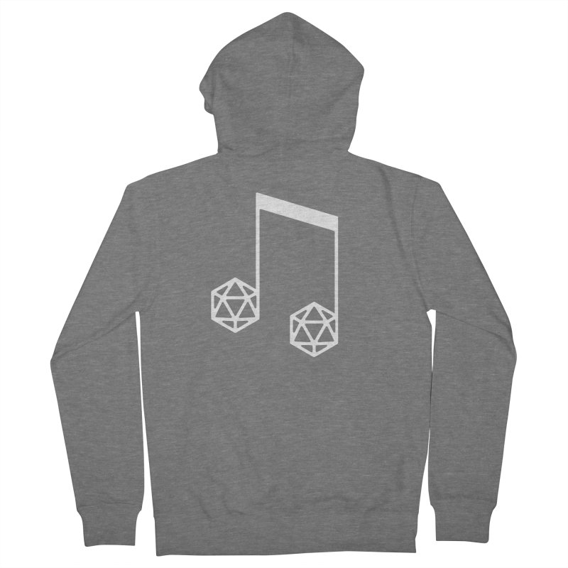 bomBARDed Logo White (no text) Men's French Terry Zip-Up Hoody by bomBARDed Merch!
