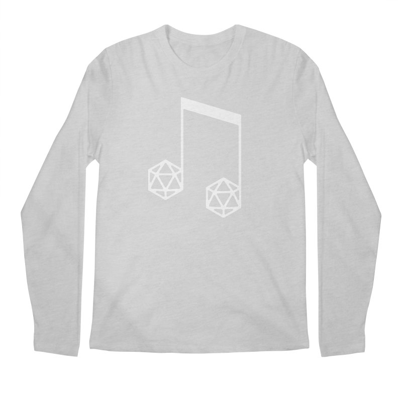 bomBARDed Logo White (no text) Men's Regular Longsleeve T-Shirt by bomBARDed Merch!