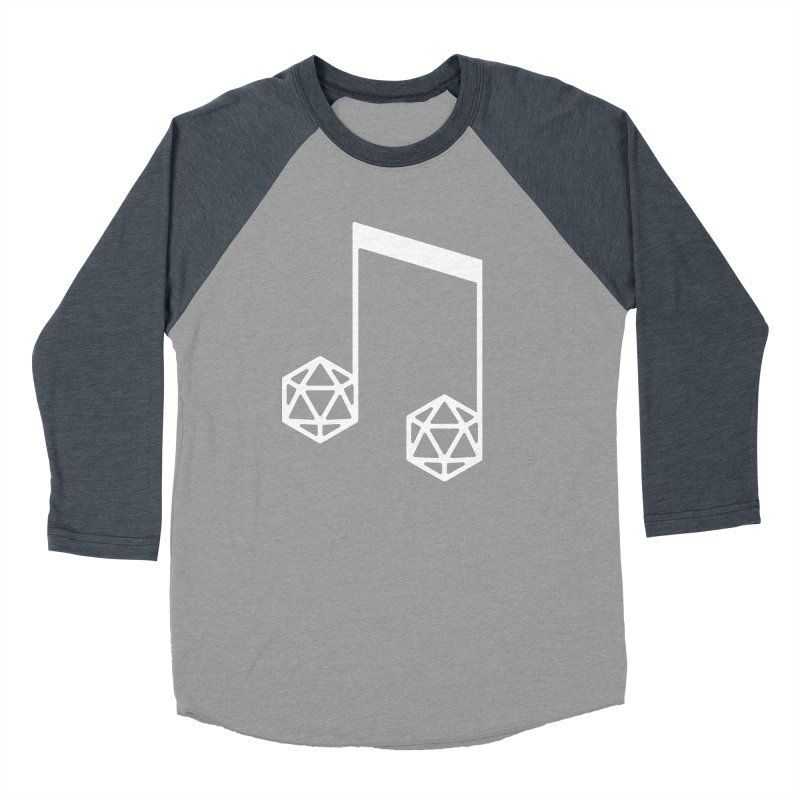 bomBARDed Logo White (no text) Men's Baseball Triblend Longsleeve T-Shirt by bomBARDed Merch!