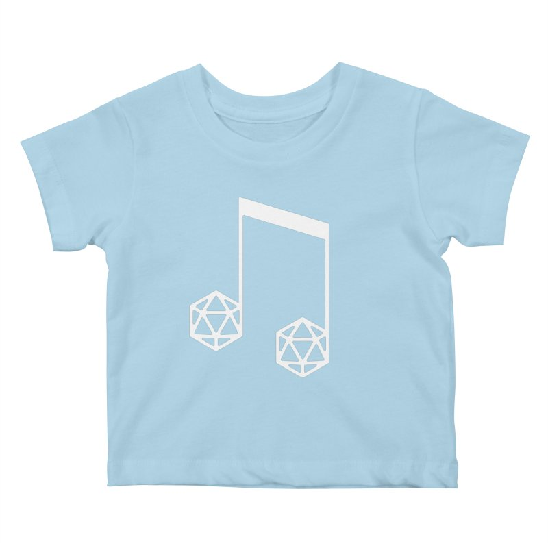 bomBARDed Logo White (no text) Kids Baby T-Shirt by bomBARDed Merch!