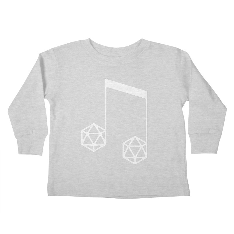 bomBARDed Logo White (no text) Kids Toddler Longsleeve T-Shirt by bomBARDed Merch!