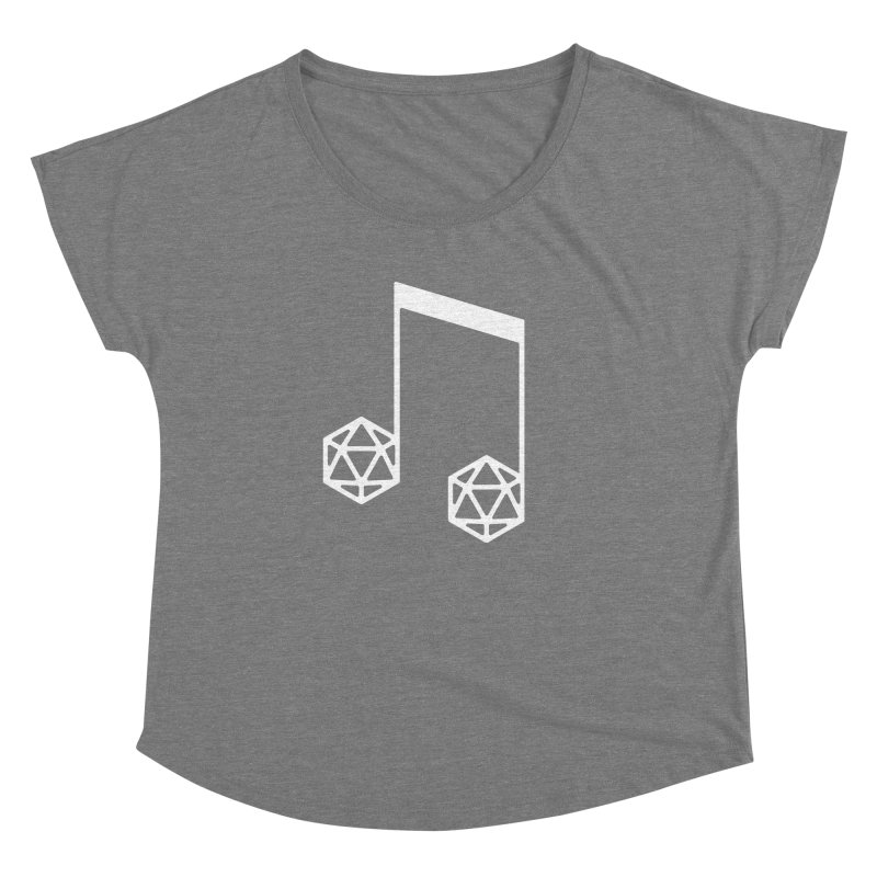 bomBARDed Logo White (no text) Women's Dolman Scoop Neck by bomBARDed Merch!