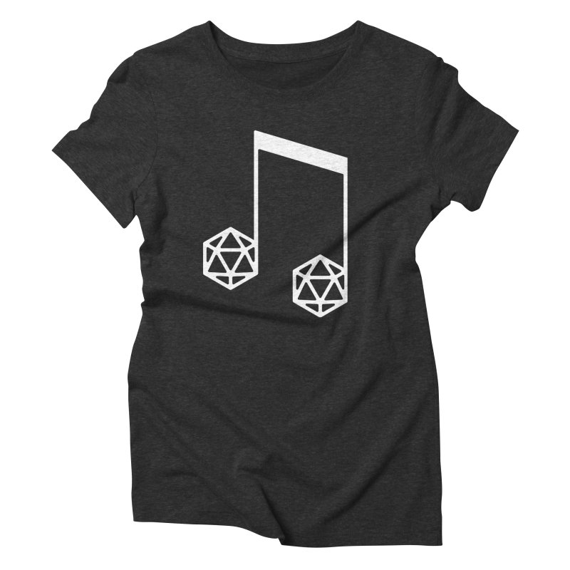 bomBARDed Logo White (no text) Women's Triblend T-Shirt by bomBARDed Merch!