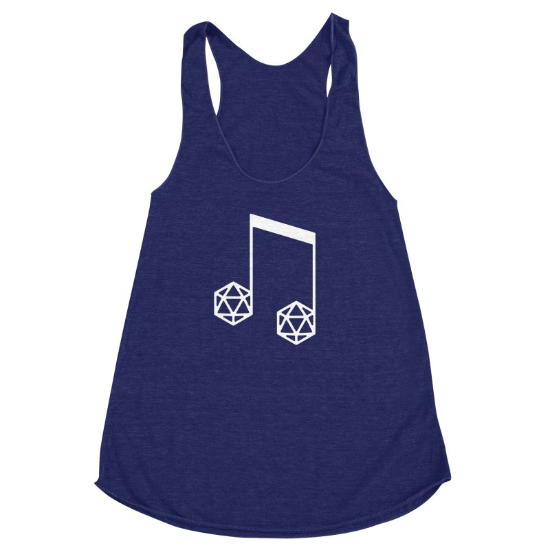 bomBARDed Logo White (no text) Women's Racerback Triblend Tank by bomBARDed Merch!