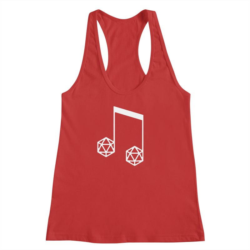 bomBARDed Logo White (no text) Women's Racerback Tank by bomBARDed Merch!