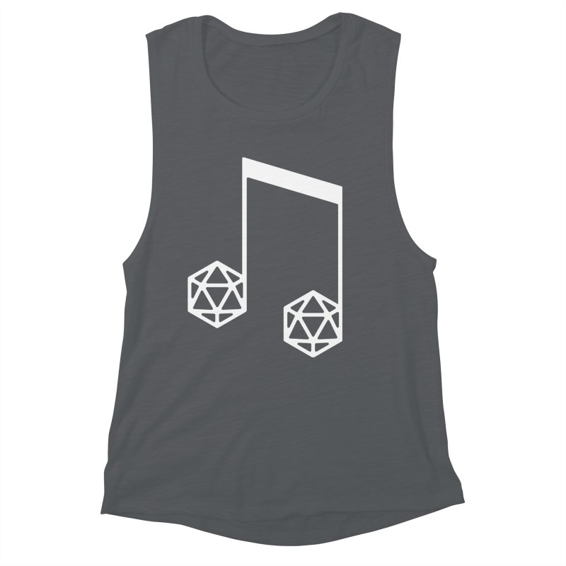 bomBARDed Logo White (no text) Women's Muscle Tank by bomBARDed Merch!