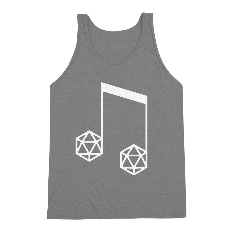 bomBARDed Logo White (no text) Men's Triblend Tank by bomBARDed Merch!