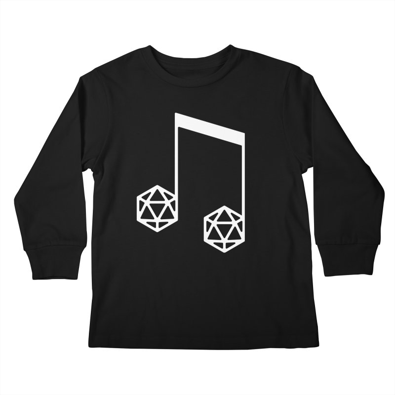 bomBARDed Logo White (no text) Kids Longsleeve T-Shirt by bomBARDed Merch!