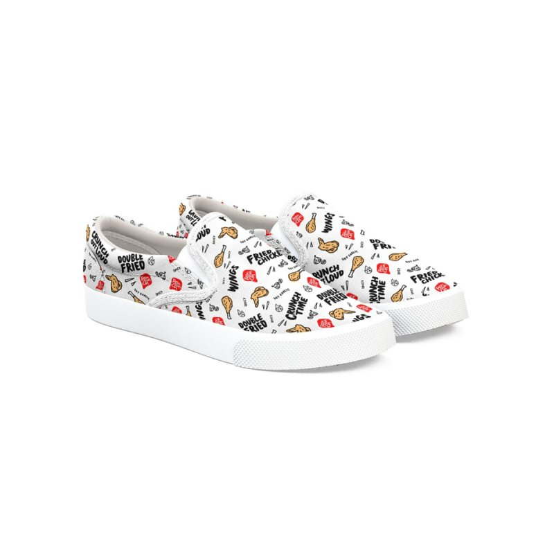 Bonchon Slip-Ons (White) Men's Shoes by Bonchon