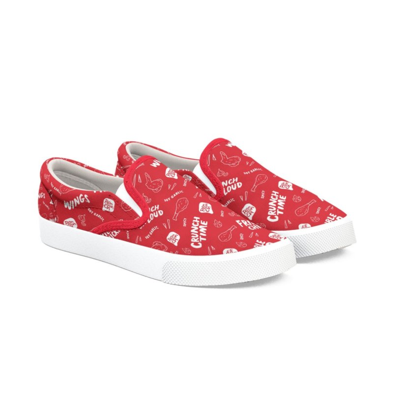 Bonchon Slip-Ons (Red) Men's Shoes by Bonchon