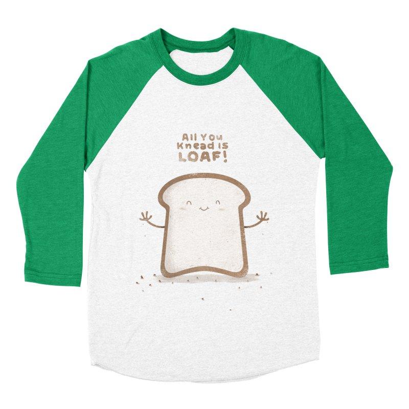 All You Knead Is Loaf Men's Baseball Triblend T-Shirt by boney's Artist Shop