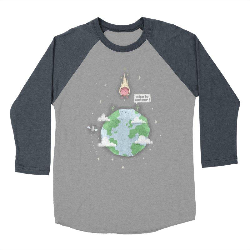 Nice To Meteor Women's Baseball Triblend T-Shirt by boney's Artist Shop