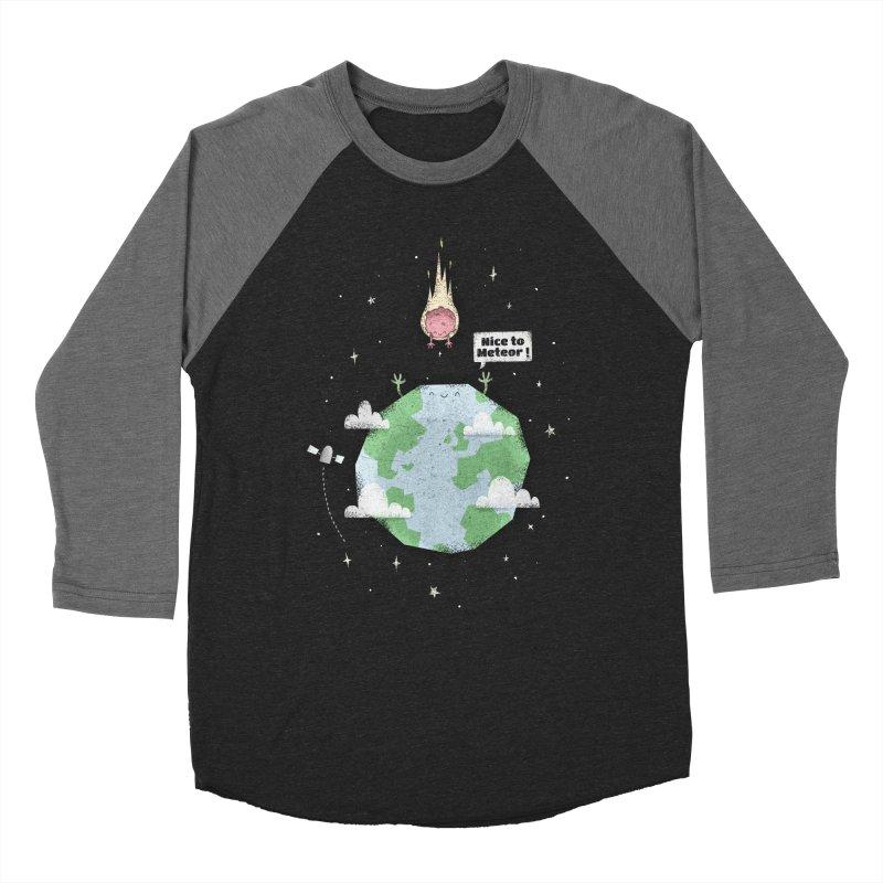 Nice To Meteor Men's Baseball Triblend T-Shirt by boney's Artist Shop