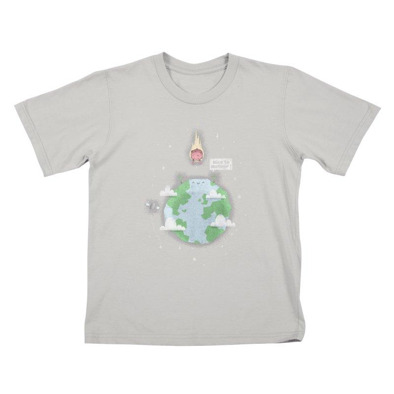 Nice To Meteor Kids T-Shirt by boney's Artist Shop