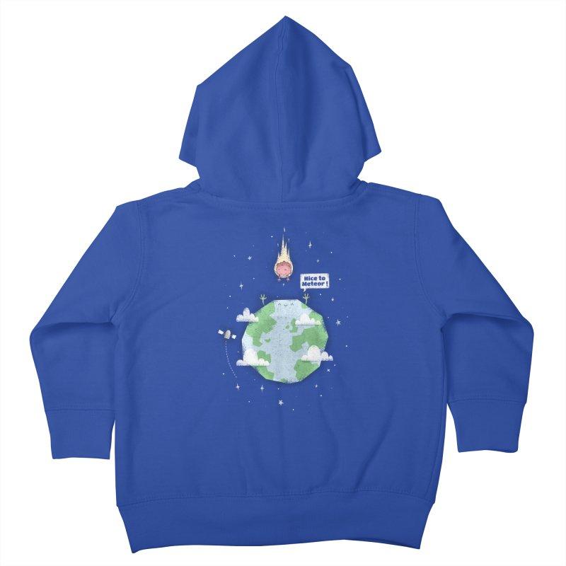 Nice To Meteor Kids Toddler Zip-Up Hoody by boney's Artist Shop
