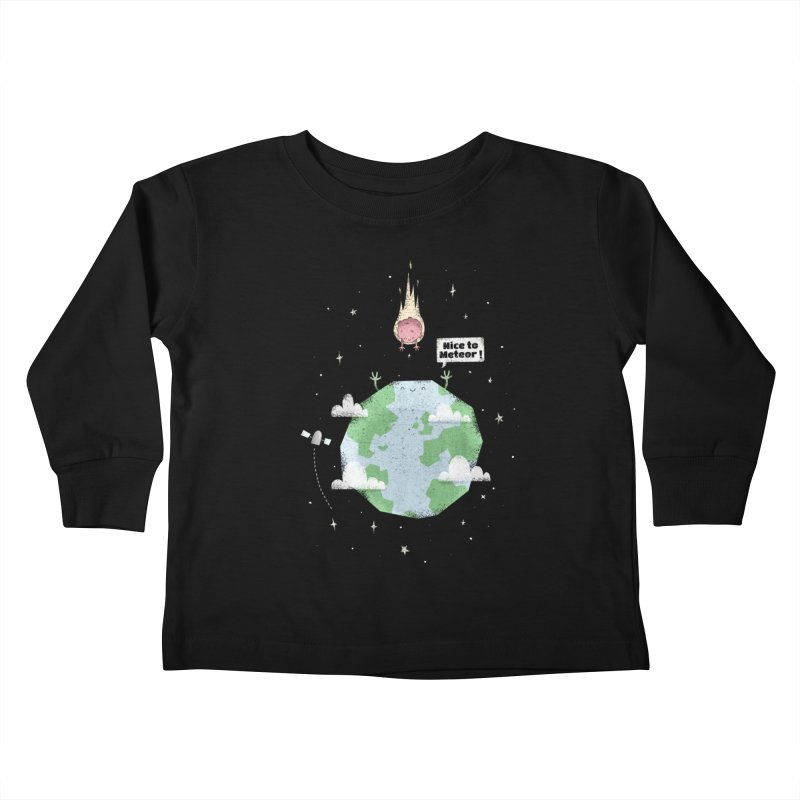 Nice To Meteor Kids Toddler Longsleeve T-Shirt by boney's Artist Shop