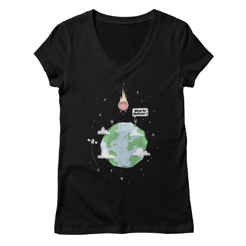Nice To Meteor Women's V-Neck by boney's Artist Shop