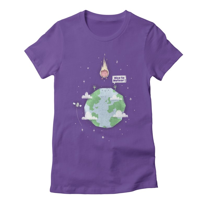 Nice To Meteor Women's Fitted T-Shirt by boney's Artist Shop