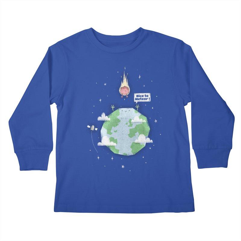 Nice To Meteor Kids Longsleeve T-Shirt by boney's Artist Shop