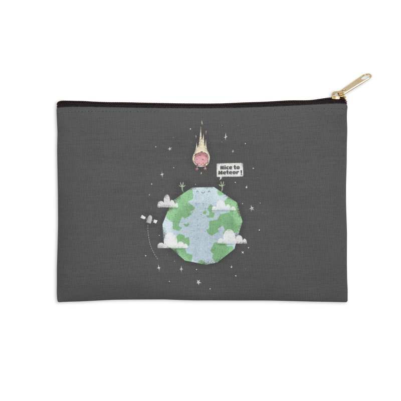 Nice To Meteor Accessories Zip Pouch by boney's Artist Shop